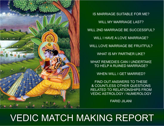 do a match making report using vedic astrology or numerology