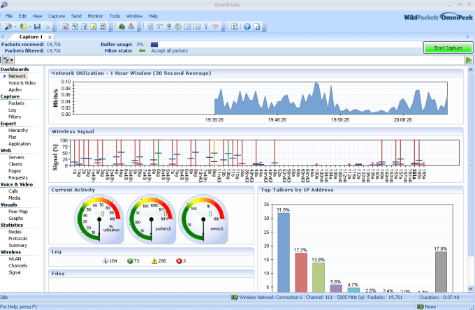 analyze wireshark networking capture on wireless or wired