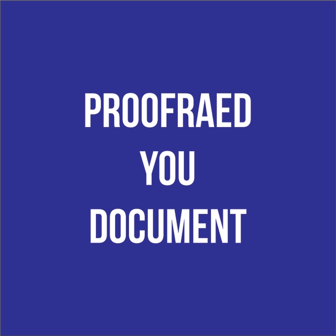 manually proofread and edit 2500 words