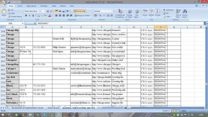 excel data entry work virtual assistant by jamshaid11601