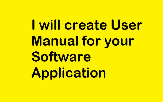 create user manual for your software application by bhawana26