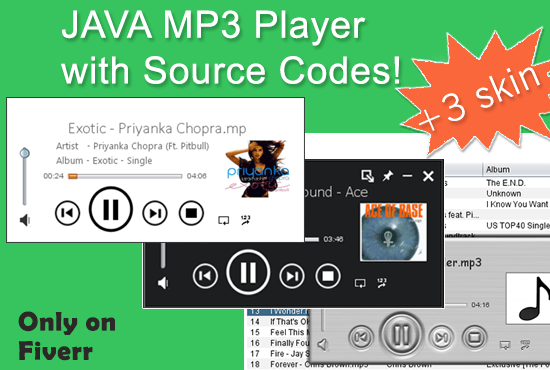 webz_master : I will sell my JAVA MP3 Player with source codes for $5 on  www fiverr com