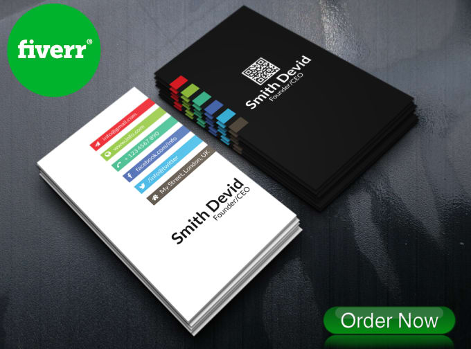 Do professional business card design by priompramanik do professional business card design colourmoves