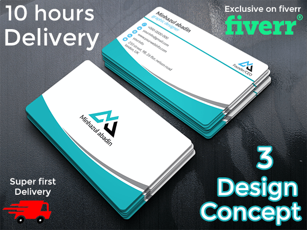 Design amazing double sided business card by minhazulabadin design amazing double sided business card colourmoves Choice Image