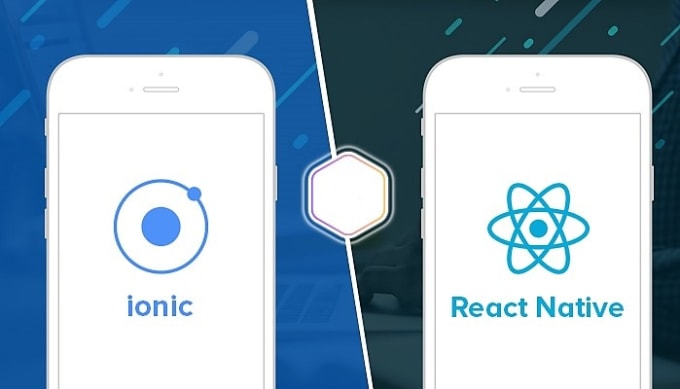 make mobile application with ionic 3 ionic 4 and react native
