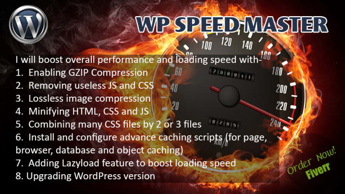 Speed up wordpress loading speed 10x faster by Boiporitto