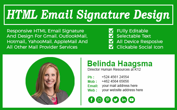 create clickable html email signature by arifahmed330
