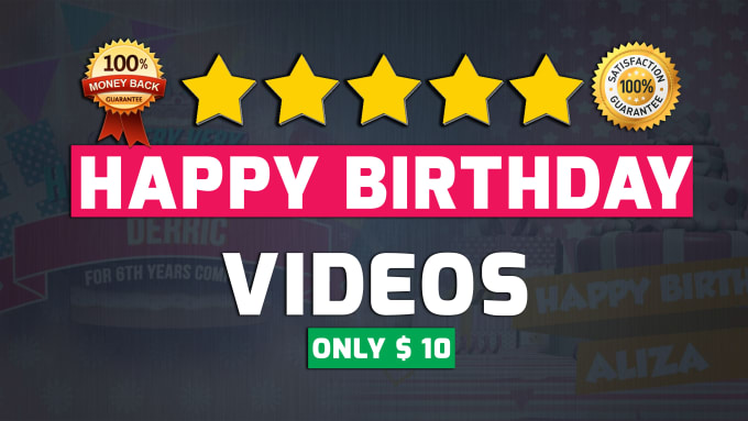 Create amazing happy birthday greeting video m4hsunfo