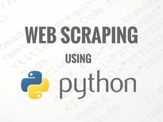 do web scraping in python scrapy