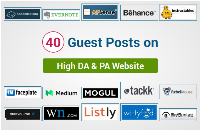 publish guest posts on high authority websites