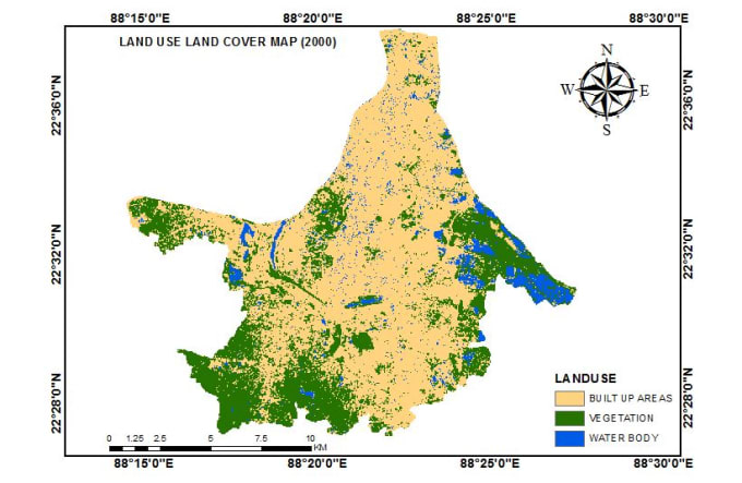 produce and create map using gis analysis