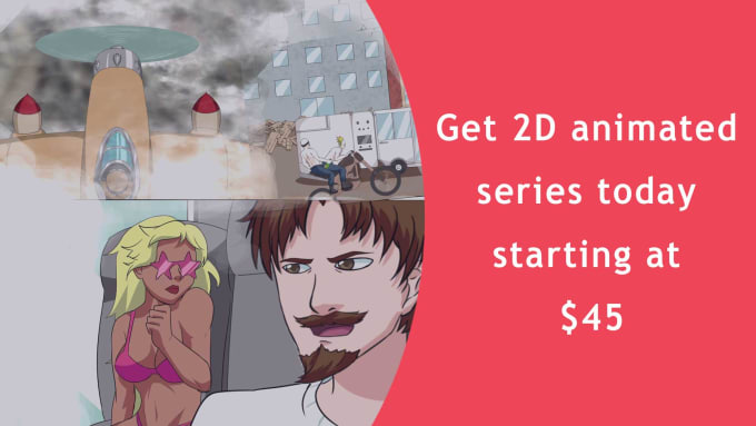 make 2d animated cartoon web series for youtube