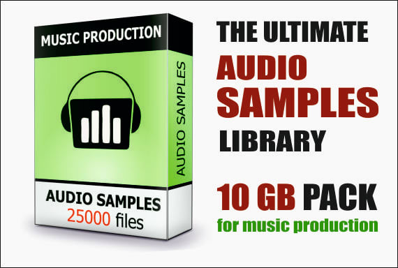 provide 10gb audio samples library drum bass keys fx vocal