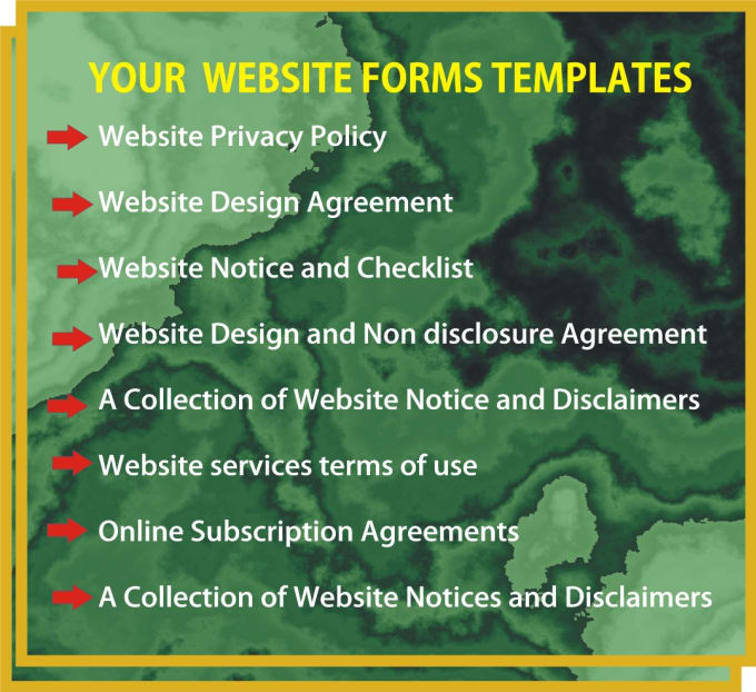 Do A Unique Website Terms Agreements Disclaimers Templates