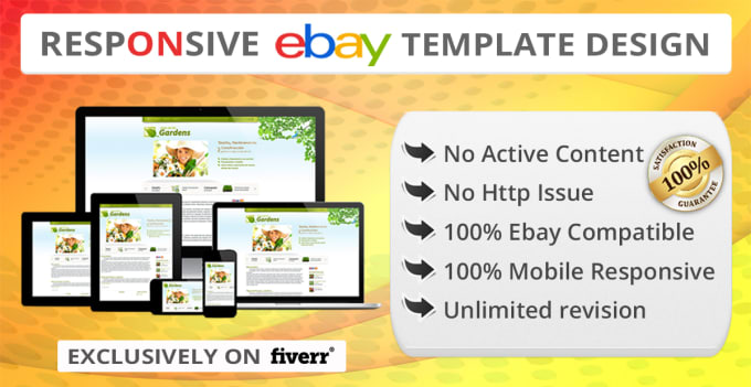 Create responsive ebay listing template and store template by ...