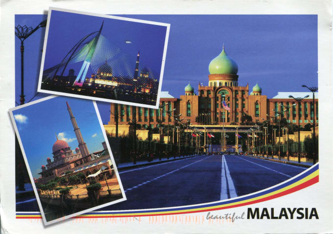 mail you a postcard from malaysia