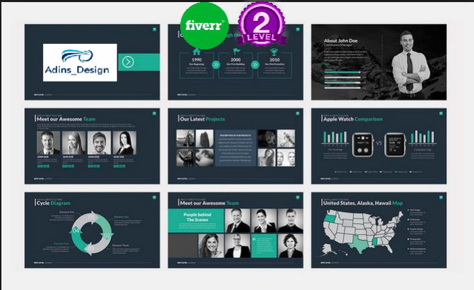 create or redesign modern powerpoint presentation by adins design