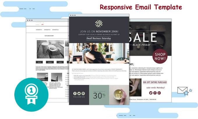 Create fully responsive html email template by Lamia14oyshi