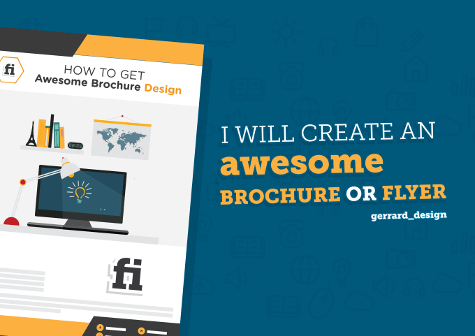Create An Awesome Brochure Or Flyer