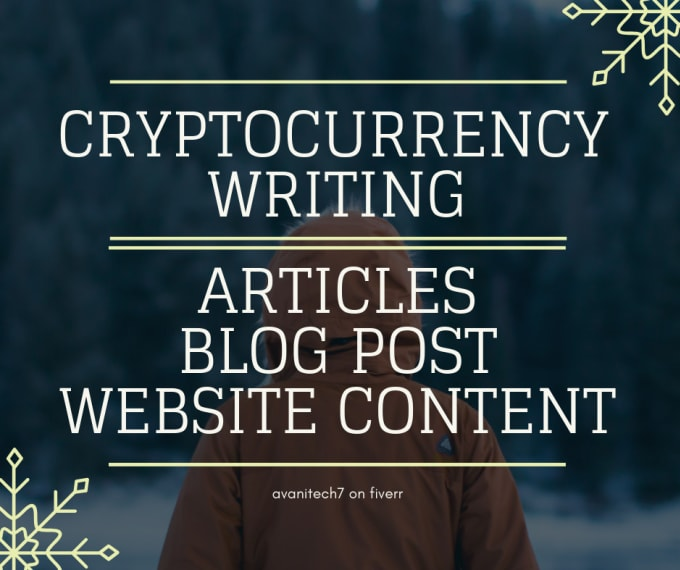 Write article for cryptocurrency