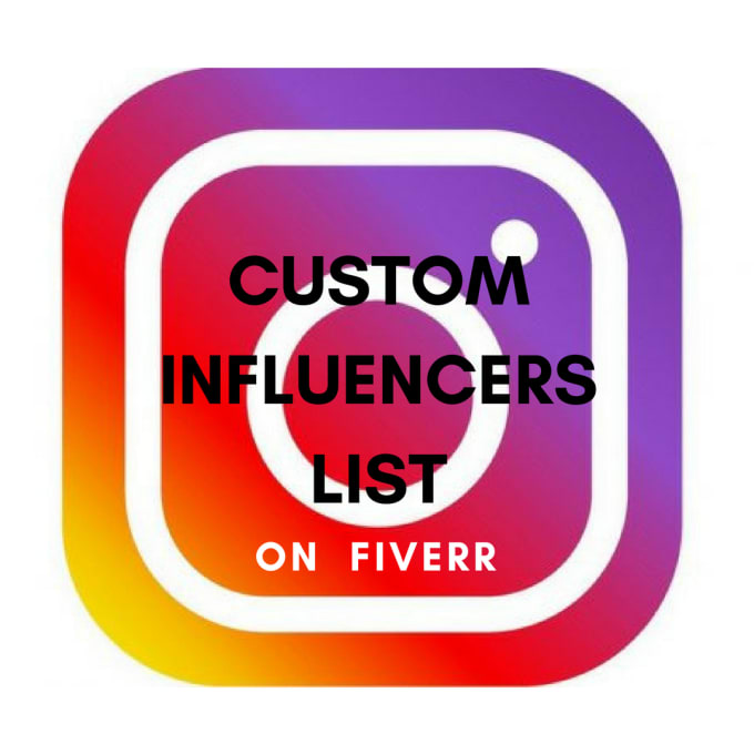 create your instagram influencers list