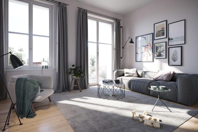 Design Interior, Floorplan, Make Realistic 3d Rendering