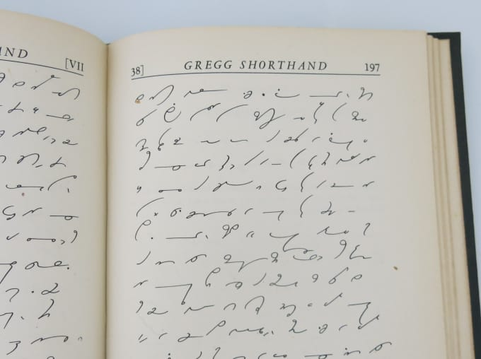 rachelbohrer : I will transcribe Gregg shorthand notes into English for $10  on www fiverr com