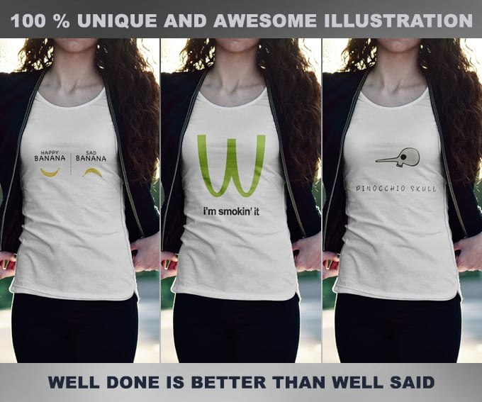 design for your tshirt with great illustration and vectors