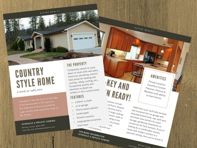 design and create a real estate flyer for any property by ashleylarsen