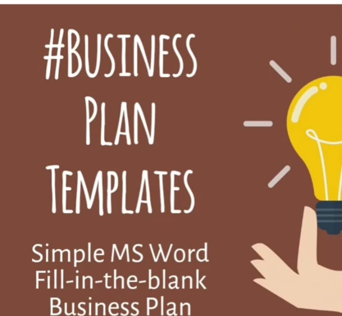 Give You My Business Plan Template For Your Business By Barbanderson - Fill in the blank business plan template
