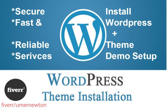 install wordpress theme, plugins and setup like demo