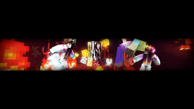 Make You A Minecraft Youtube Or Twitter Header With Your