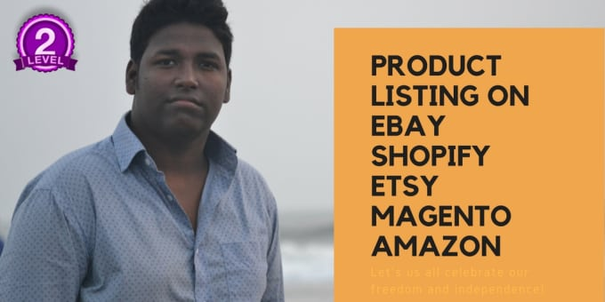 do outstanding product listing on ebay,shopify,etsy,groupon,no template