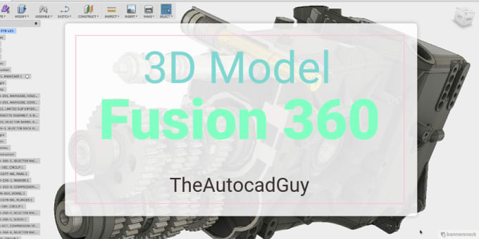 create 3d model of anything in autodesk fusion 360