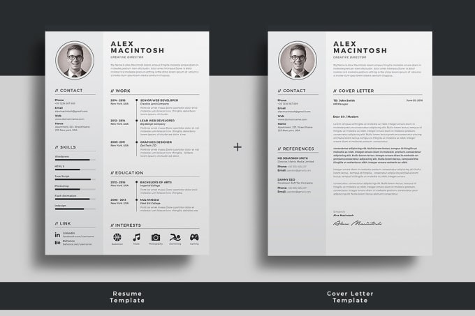 create a professional and eye catching resume in 24 hours