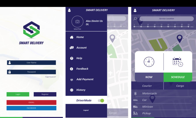 develop courier delivery app and any delivery app for you