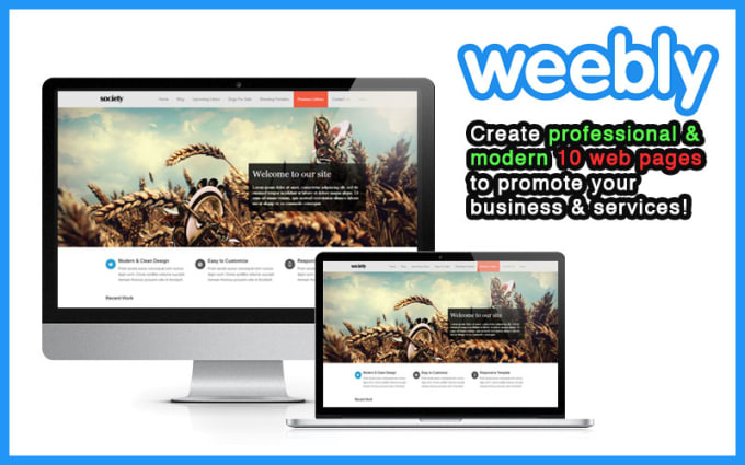 create 10 pages professional modern weebly website