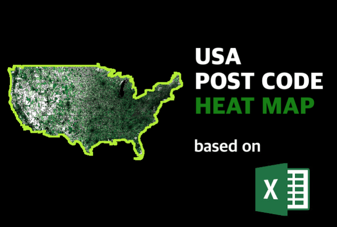 Create A Usa Post Code Heat Map Of Your Data By Excel Hero - Create-us-heat-map