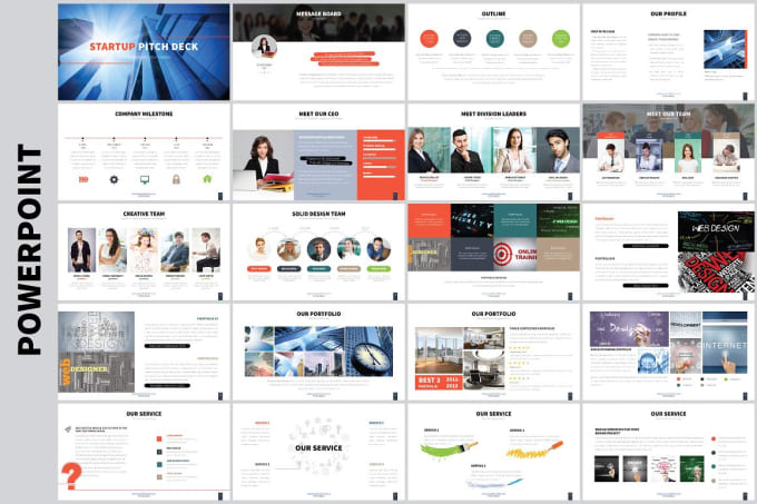 design modern pitch deck ppt for your business by nishatian1