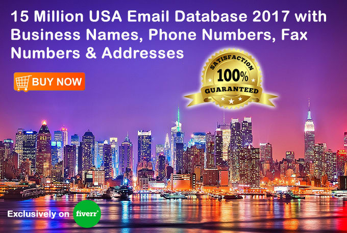 give You 15 Million USA Email Database by States, Cities and Zip Codes