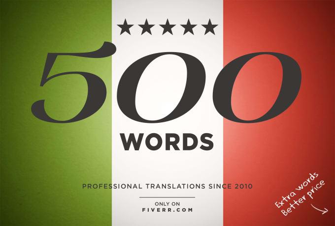 Italian Language Translation To English: Translate 500 Words From English To Italian By Calsolaroart