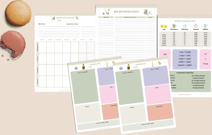supply meal planner, recipe planner and shopping list