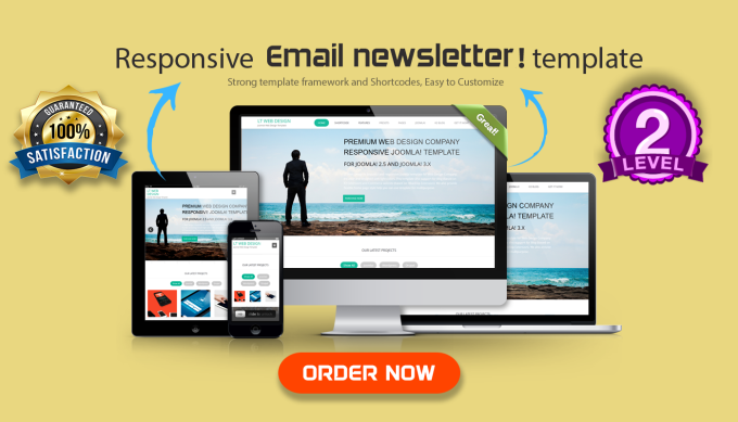 Design Responsive Mailchimp Email Template By Asik - Mailchimp premium templates