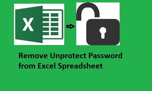 how to remove a password from excel worksheet