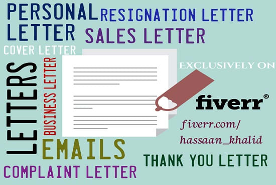 Write Any Type Of Personal Letter Email And Powerful Business Letter