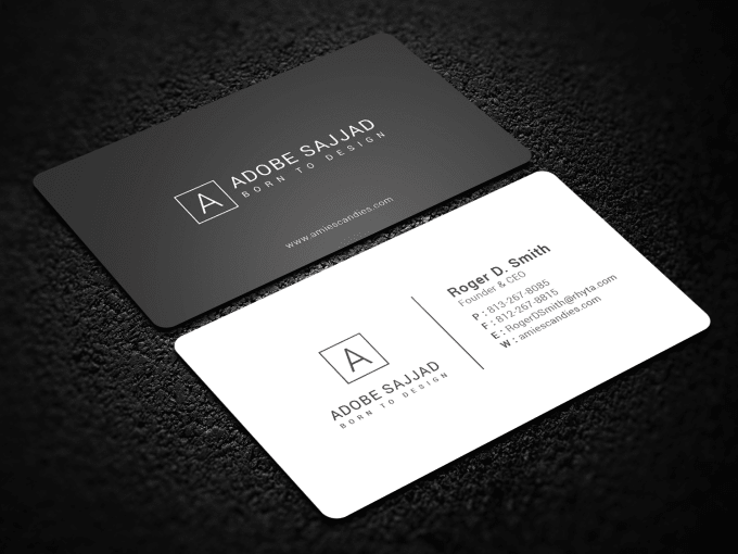 design minimalist business card by adobesajjad