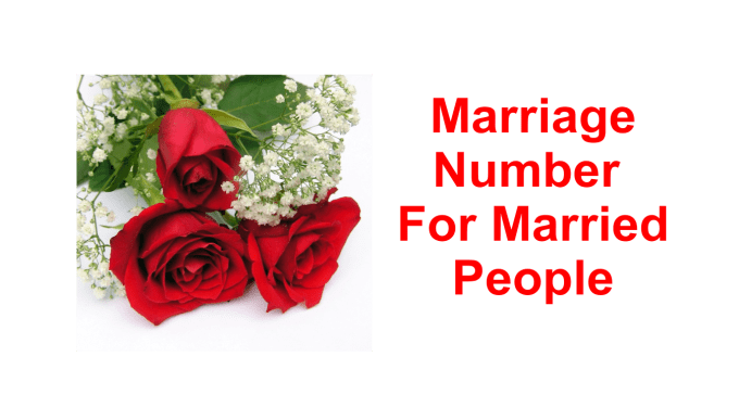 find your marriage number