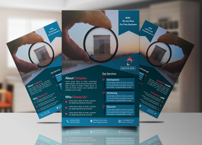design elegant and professional flyers within 24 hours