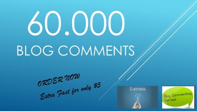 provide over 60,000 live blog comment backlinks, for seo link building