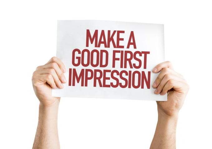 the first impression We have all heard of the value of making a positive impression when meeting someone for the first time it only takes a few seconds for someone to evaluate you this opinion is usually based on your demeanor, mannerisms, body language, speech, and appearance, but it's even more than that.